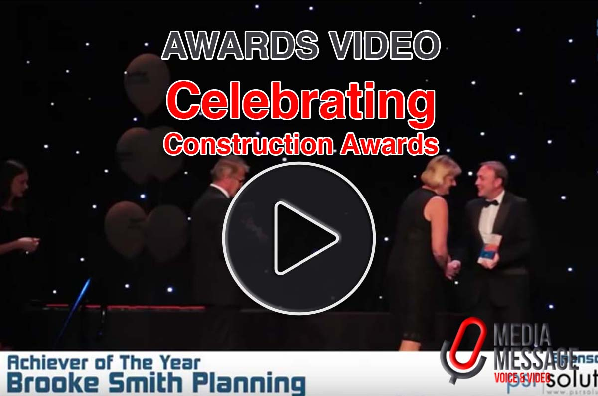 Awards videography and voice-over for Celebrating Construction Awards 2015
