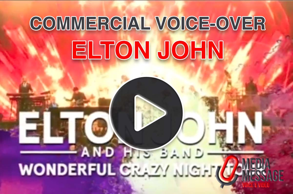 Elton John TV commercial british male voice-over