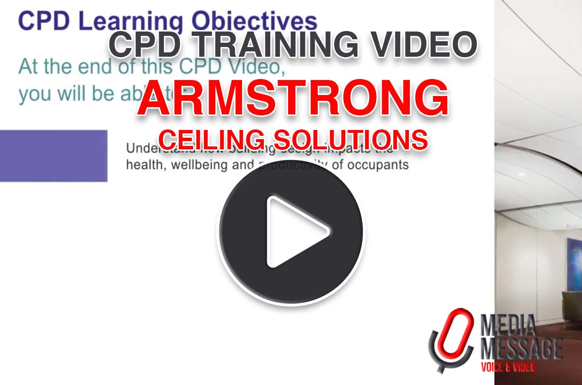 CPD training video produced for Armstrong Ceiling Solutions