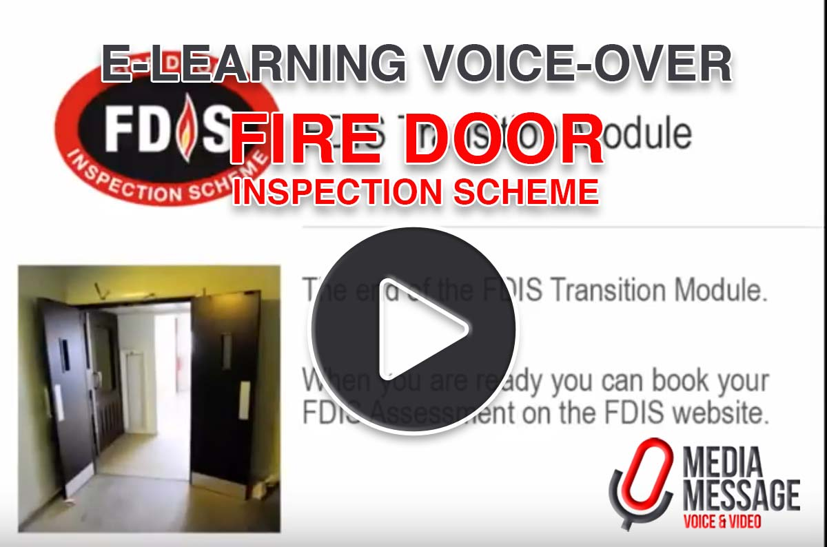 Fire Door Inspection Scheme educational voice production by Media Message