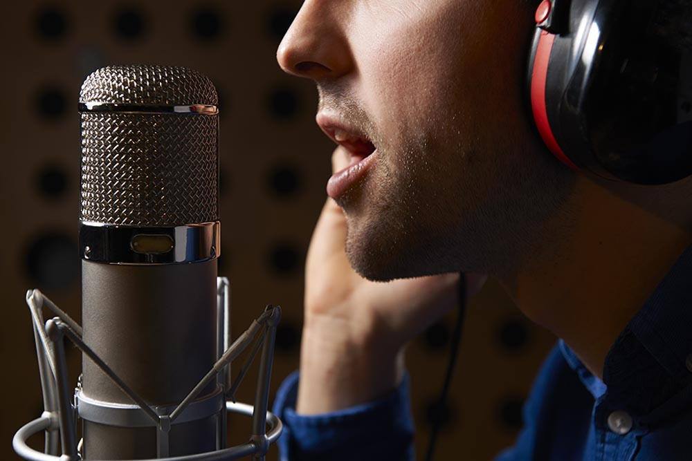 Narration voice-over services by media Message